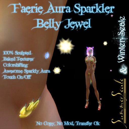 Faerie Aura Sparkle Belly Jewel Poster