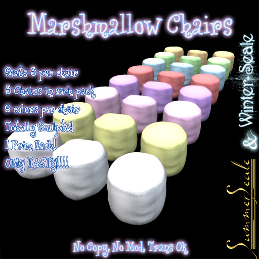 Marshmallow Chairs Poster Trans OK