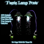 Faerie Lamp Posts Poster