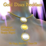 Gold Discs Necklace Poster 1
