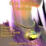 Gold Pumpkin Necklace Poster 1 copy