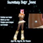Snowflake Belly Jewel